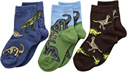 Jefferies Socks - Dino Triple Treat 3-Pack (Infant/Toddler/Little Kid)