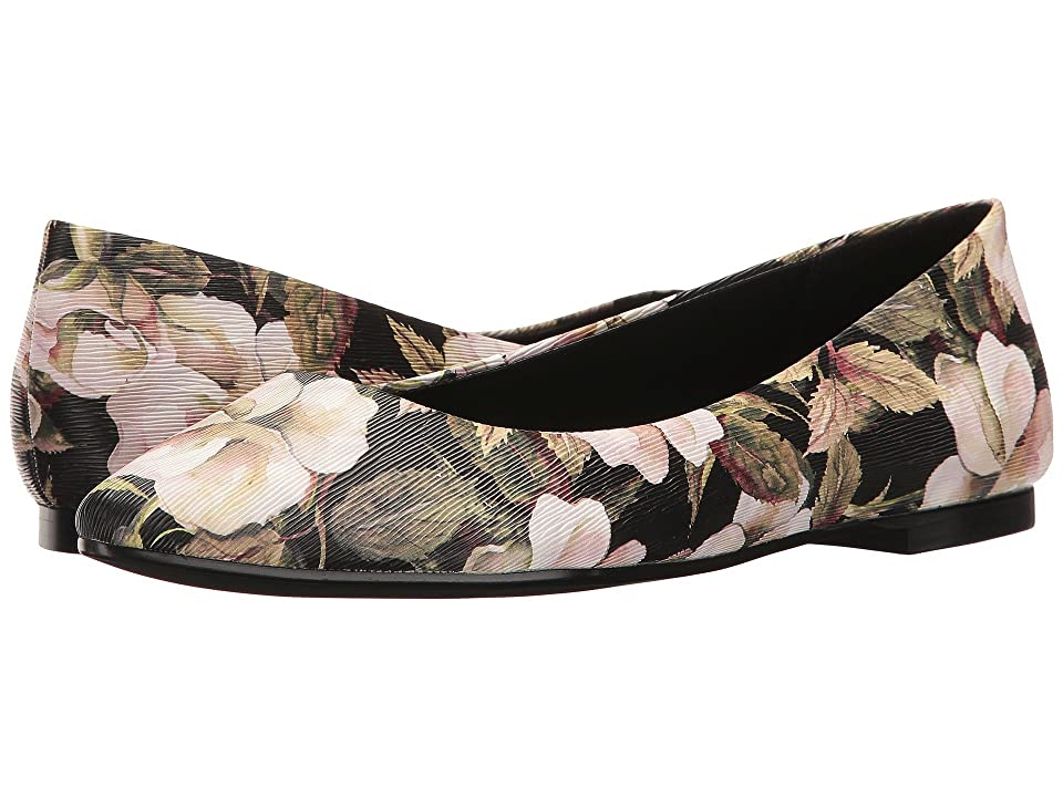 BCBGeneration Millie (Black Watercolor Flower/Black Smooth Nappa) Women