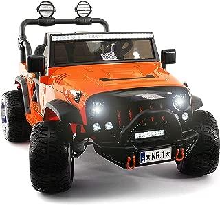 orange power wheels jeep