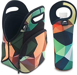 Nordic By Nature Neoprene Lunch Bag For Women, Men & Kids Extra Thick Insulated..