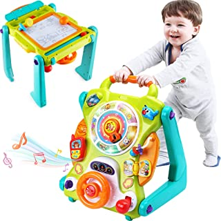 iPlay, iLearn 3 in 1 Baby Walker Sit to Stand Toys, Kids Activity Center, Toddlers Musical Fun Table, Lights and Sounds, L...