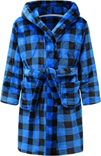 Kids Bathrobes for Girls Boys,Baby Toddler Robe Hooded Flannel Bathrobe Pajamas Sleepwear for Girls Boys
