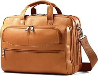 Durham Colombian Leather 2 Pocket Briefcase (Tan)