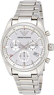Emporio Armani Men's Mechanical Watch, Analog Display and Stainless Steel Strap Ar6013, Silver Band
