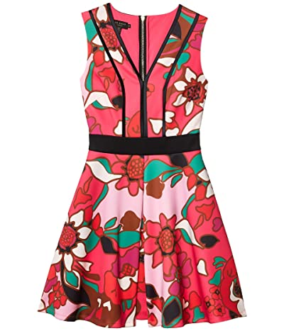 Ted Baker Arilina Pinata Pipe Detail Skater Dress (Bright Pink) Women