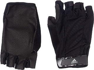 Adidas Men's Vers Cl Soccer Gloves, Black/Black/Iron Met, Medium