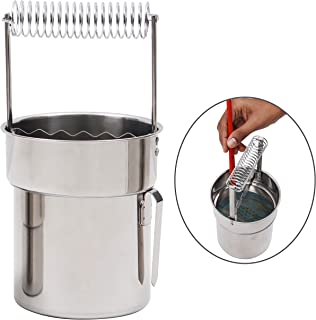 KURTZY Paint Brush Washer - Artist Portable Stainless Steel Paint Brush Cleaner - Double Layer Brush Cleaner with Wash Tank, Filter Screen & Holder Spring - Paint Brush Strainer