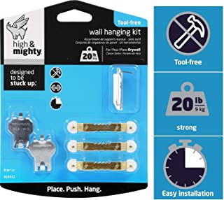 HIGH & MIGHTY 515311 Tool Free Picture Hanging Kit, 6 Pieces, 20LB Limit
