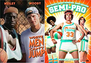 White Men Can't Jump + Semi-Pro Basketball DVD Woody Harrelson Double Feature Collection Set 2 Movies