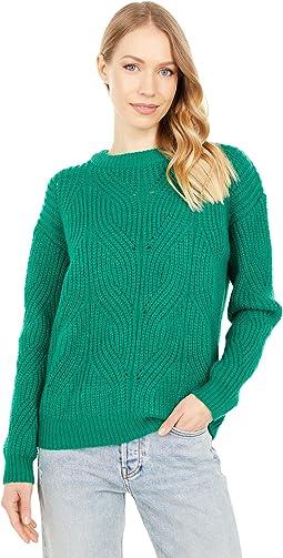 Fluffy Pointelle Sweater