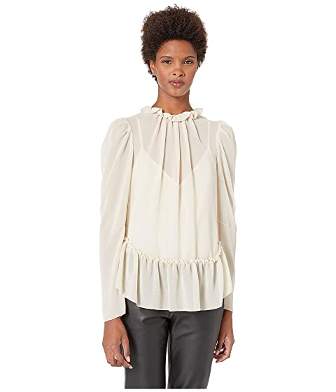 See by Chloe Textured Georgette Peplum Blouse