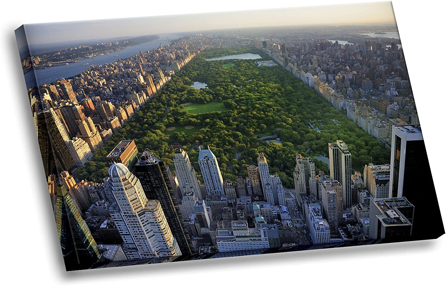 Amazon Com Aerial View Of Central Park New York City Hd Gallery Wrapped Hd Canvas Wall Art Picture Posters Prints
