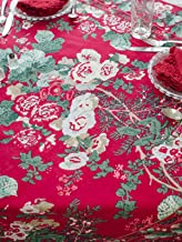 April Cornell Holiday Tablecloth Specialty Linens (Olivia Holiday Red, 72