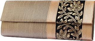 Mela Golden Embroidered Women`s Clutch