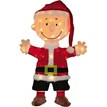 ProductWorks 36-Inch Peanuts Led Pre-Lit 2D Motorized Yard Art Holiday D/écor