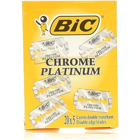 Bic Chrome Platinum Double Edge Razor Blades - 100 Ct