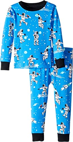 Athletic Astronauts Glow Organic Cotton Pajama Set (Toddler/Little Kids/Big Kids)