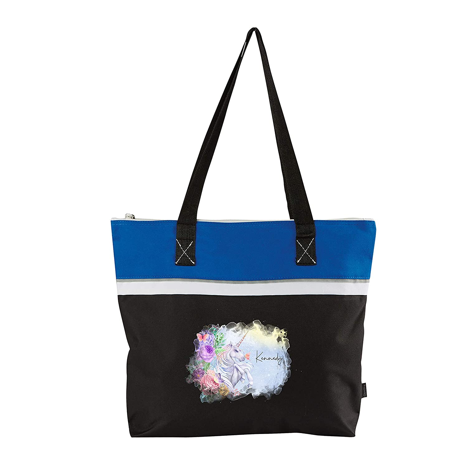 Magical Unicorn Printed Personalized Small Great interest Beach Tote Easy-to-use