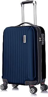 TravelCross Berkeley Classic 21'' Carry On Lightweight Hardshell Spinner Luggage (Dark Blue)