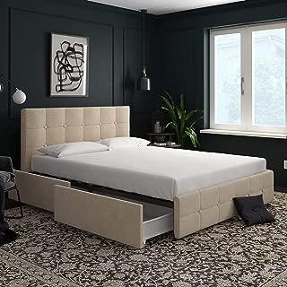 dhp rose upholstered platform bed with storage