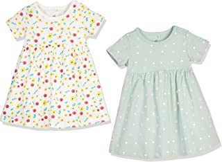 Baby Girl's Dresses Short Sleeves/Long Sleeves Flower Print Outfit Organic Cotton Cute Baby...