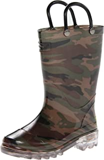 Western Chief Boys' Light-Up Waterproof Rain Boot