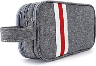CozyCabin Travel Toiletry Bag for Men or Women - Waterproof Shaving Dopp Kit for Makeup Accessories Cosmetic Bag with Large-Capacity (Gray,Small)