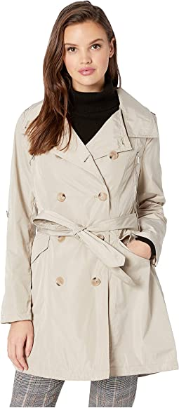 Drape Back Belted Trench