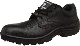 Aktion Safety Genuine Leather Shoes SA-166 - Size 7, Black