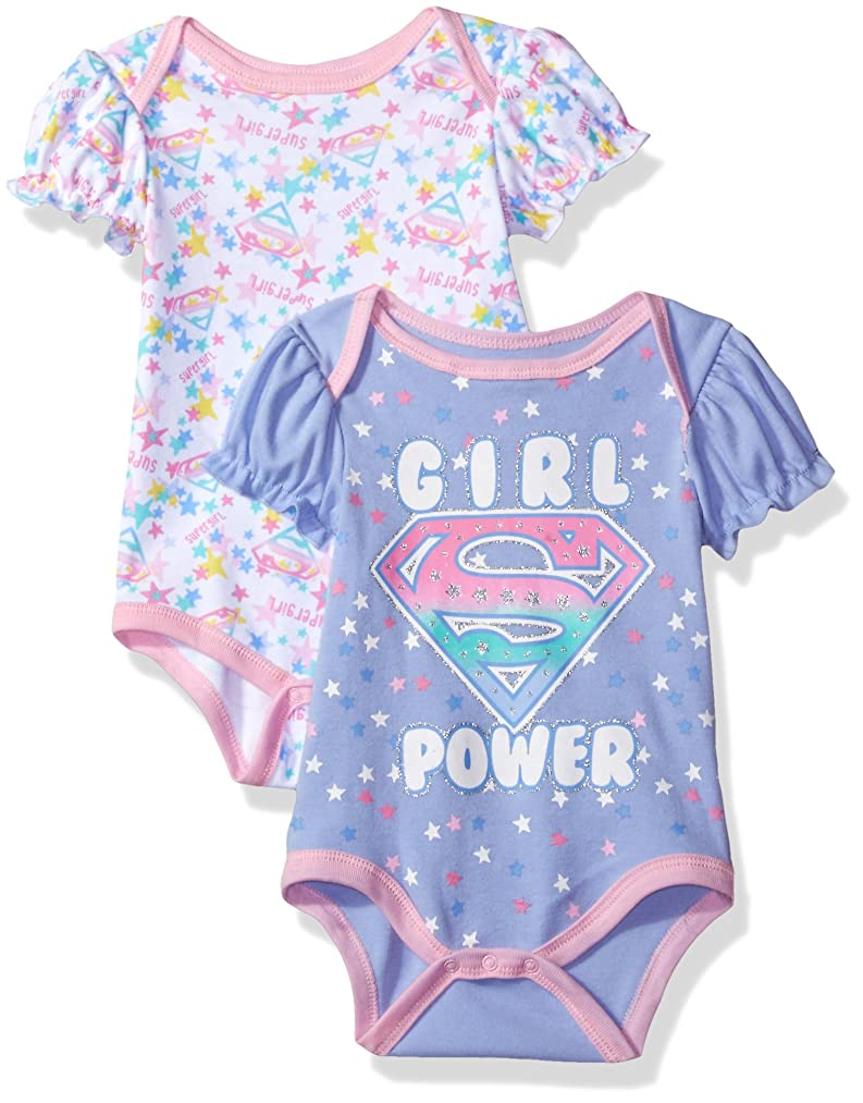 Warner Brothers Baby Girls' Supergirl 2 Pack Bodysuit