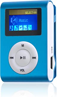 Difrnce MP855 4GB MP3-Player with Clip and 1.1 inch Display - Blue