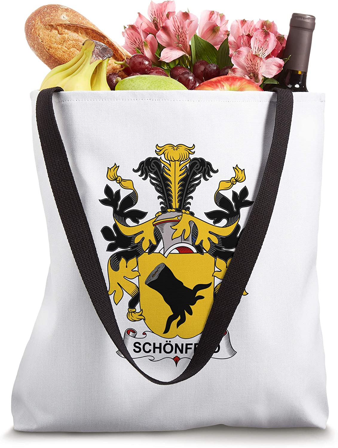Schonfeld Coat of Arms - Family Crest Tote Bag