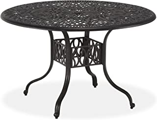Floral Blossom Charcoal 48-Inch Round Dining Table by Home Styles
