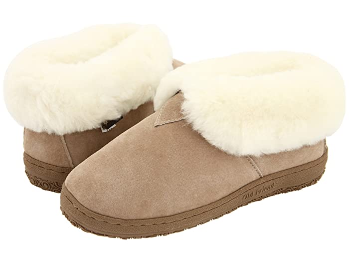 Image of Chestnut Fold Cuff Bootie Slippers for Women