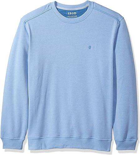 IZOD Hommes's Advantage Perforhommece Solid Fleece Crew, CornfFaibleer bleu, petit