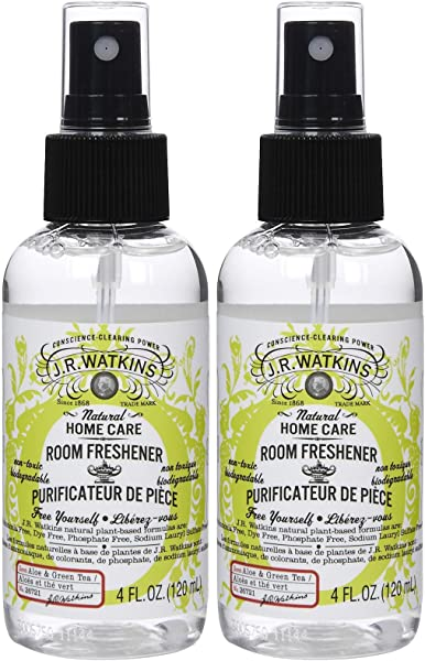 J R Watkins Room Spray Aloe Green Tea 4 Oz 2 Pk