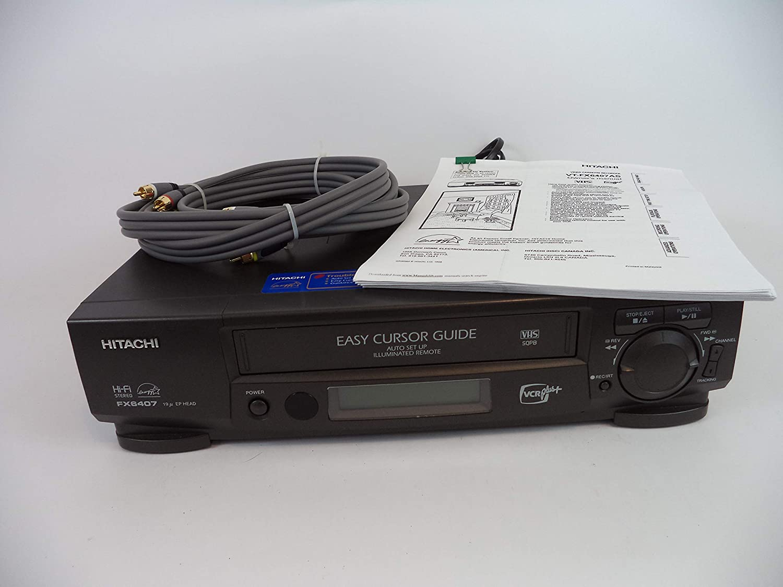 Hitachi VCR Recorder FX6404, Hi-Fi Stereo With Multi Function Window