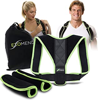 EXOMEND Posture Corrector - Anti-Slouching Trainer and Spine Alignment Device for Gamers and Desk Workers - Orthopedic Back Brace Fits Men and Women Size: M - XL