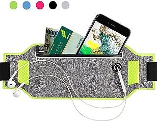 ランナーポーチ 縫い目なし ランニングポーチ ジム マラソン ウエスト 超薄い 防汗 収納 夜間 ベルト 二つポケット ウェストバック 男 女 iPhone7/8/x/Sony/Samsung など6.3インチまでのスマホに対応でき