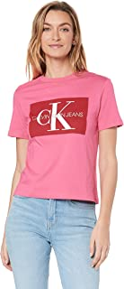 Calvin Klein Jeans Women's Iconic Monogram Box Straight T Shirt