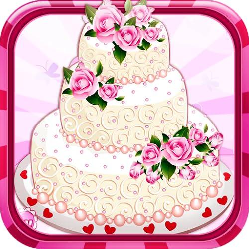 Rose wedding cake - Cooking game