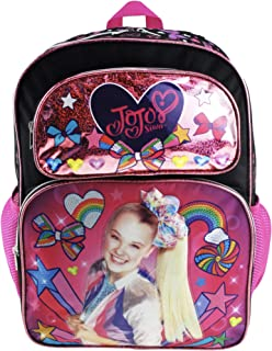 """JoJo Siwa 16"""" Deluxe Backpack - Colourful Bow Collection - A19036"""