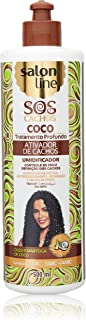 Linha Tratamento (SOS Cachos) Salon Line - Ativador de Cachos Coco Tratamento Profundo 500 Ml - (Salon Line Treatment (SOS Curls) Collection - Deep Treatment Coconut Curl Activator 16.9 Fl Oz)