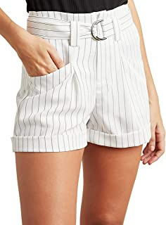 Pinstripe Belted Shorts 80389736 For Women Closet by Styli