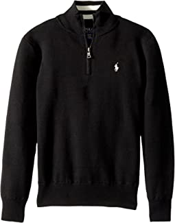 Polo Ralph Lauren Kids - Cotton 1/2 Zip Sweater (Big Kids)