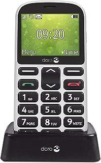 Doro 1360 Telefono Cellulare 2G Dual SIM per Anziani con Fotocamera, Pulsante d'Emergenza e Base per Ricarica [Versione It...