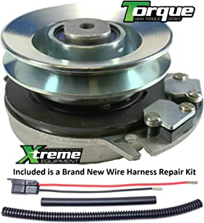 Xtreme Outdoor Power Equipment Bundle - 2 Items: PTO Electric Blade Clutch, Wire Harness Repair Kit. X0203 Replaces ALKO 514876 PTO Clutch - Upgraded Bearings!! w/Wire Harness Repair Kit