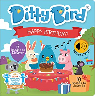 Interactive First Birthday Book for Babies with Real-Life Sounds, First Words and Fun Songs. Educational Toys for Baby, 1 ...