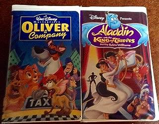 Oliver & Company/Aladdin: King Of 2PK VHS