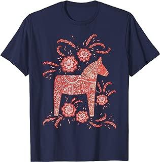 Dala Horse Swedish Art T-Shirt